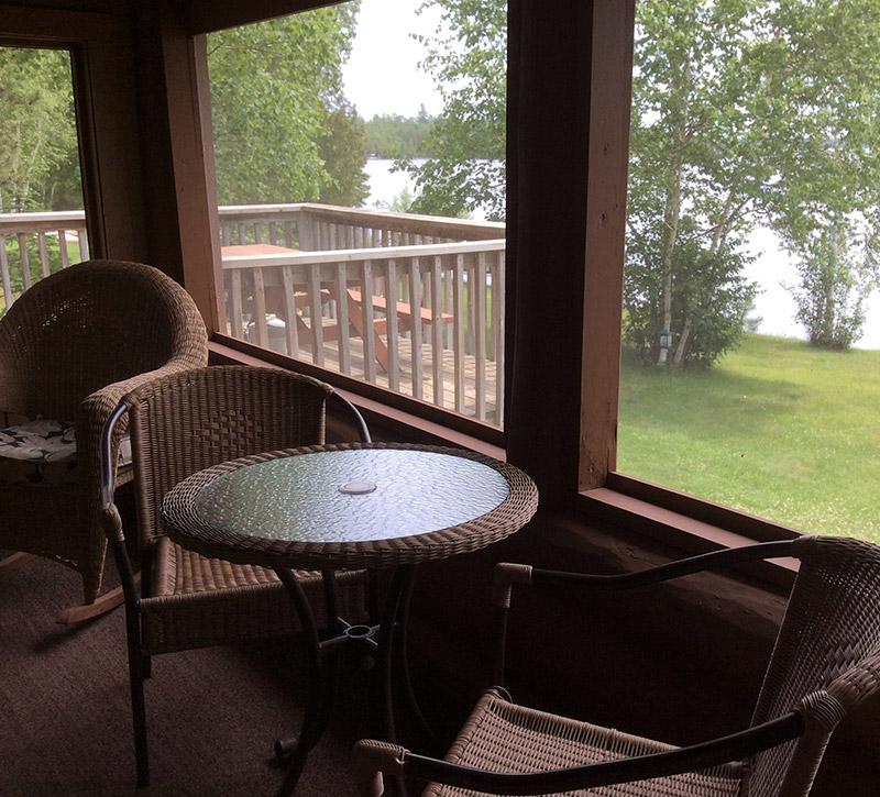 Cabins-Northern Minnesota Cabins-Log Cabin-River Point Resort-Birch Lake