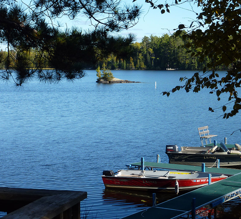 Ely Minnesota Cabins-River Point Resort-Bayport Cabin Dock