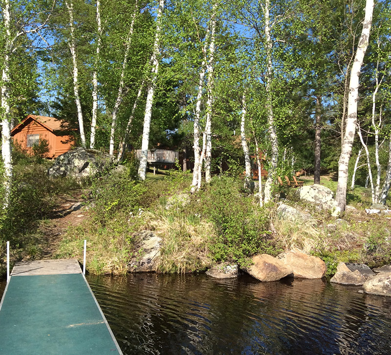 Cabins-Northern Minnesota Cabins-Log Cabin Private Dock-River Point Resort