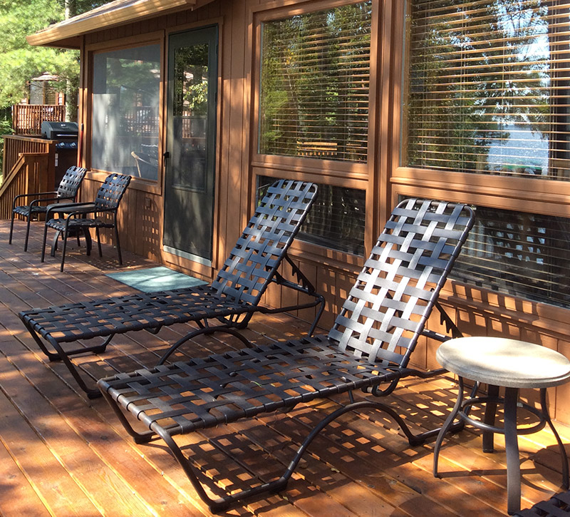 Minnesota Vacation Home Cabins-River Point Resort-Bayport Cabin Sundeck