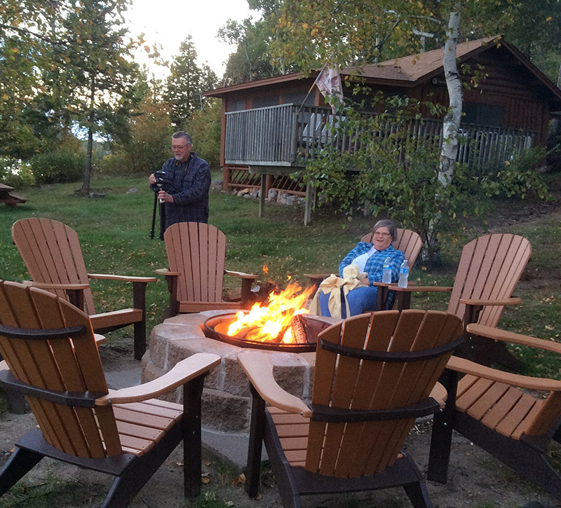 Bonfire Time-Northern Minnesota Cabins-River Point Resort-Birch Lake-Ely