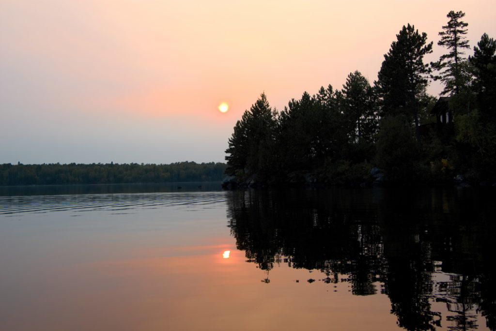 Ely Minnesota Cabins-River Point Resort-Sunset
