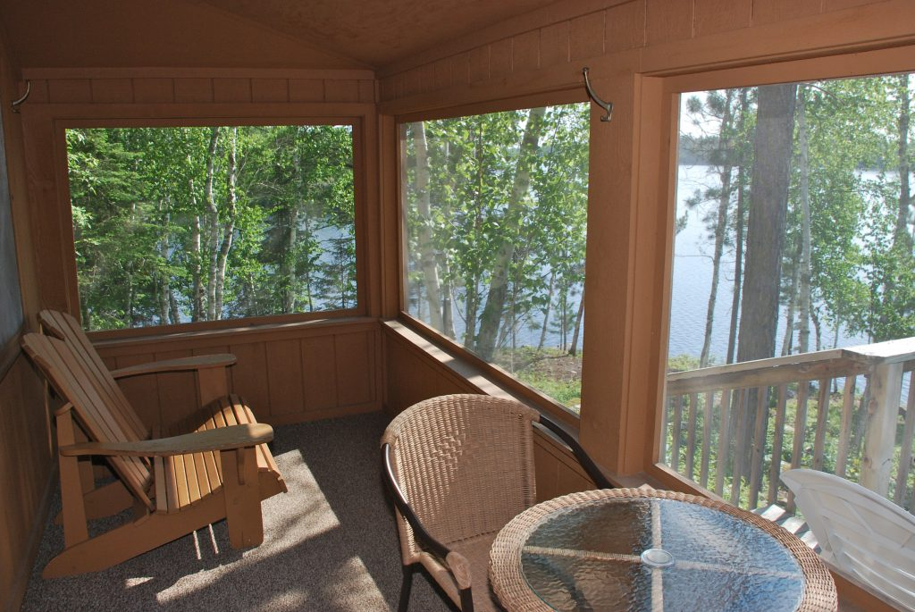 Northern Minnesota Resorts-River Point Resort-Summerbreeze Cabin Porch