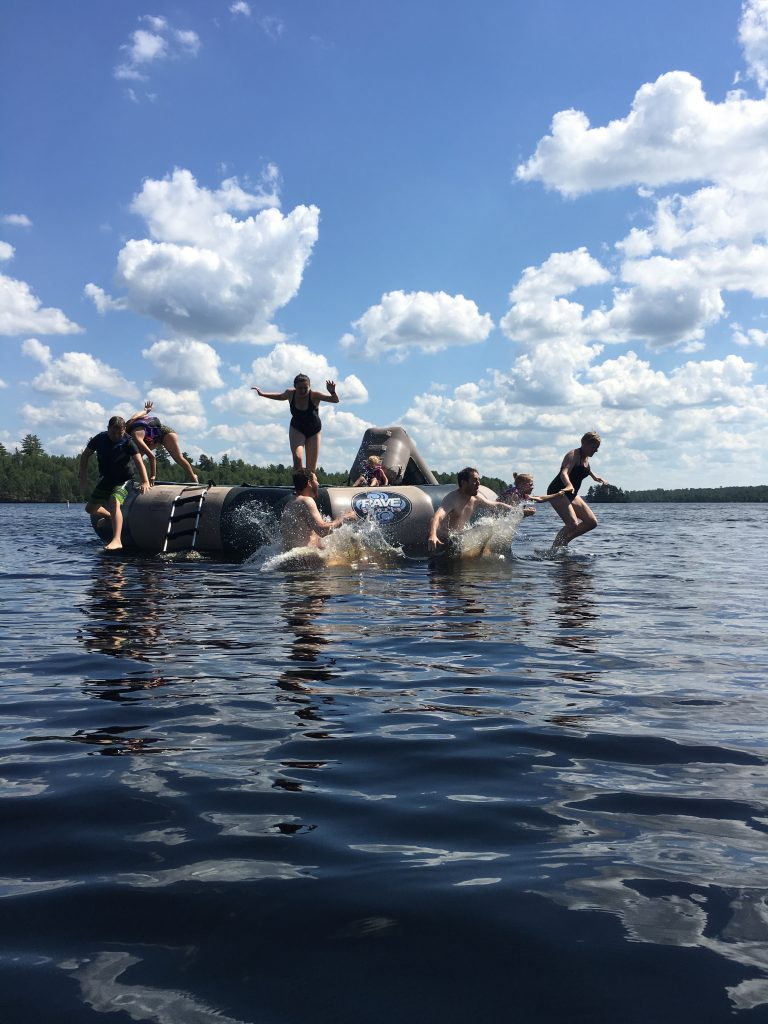 Ely Minnesota Cabins-River Point Resort-Bayport Cabin-Raft Fun