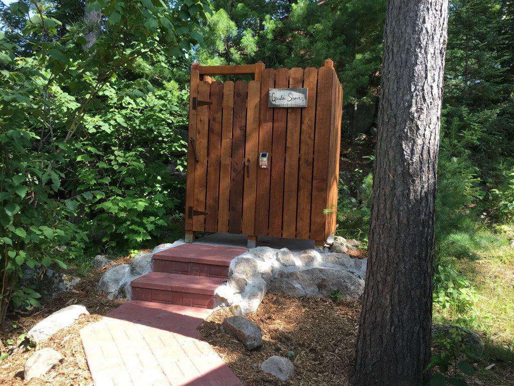 Northern Minnesota Cabins-Garden Shower-River Point Resort-Birch Lake-Ely