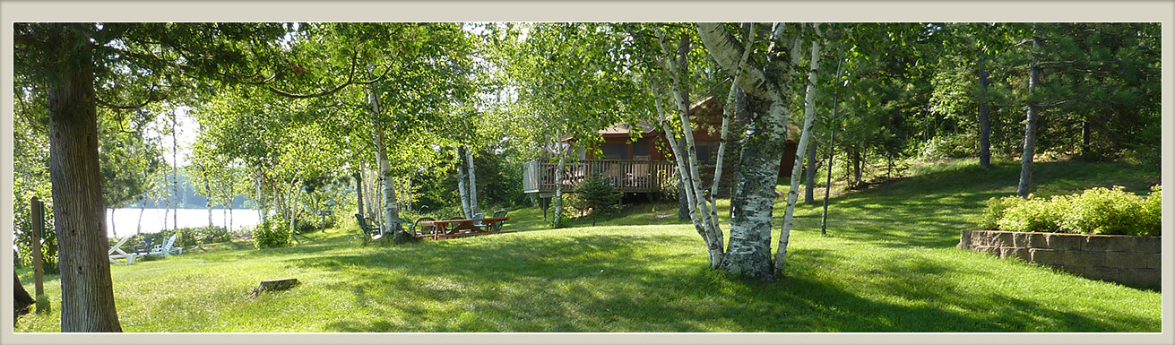 Cabins-Northern Minnesota Resorts-River Point Resort-Ely MN-The Log Cabin