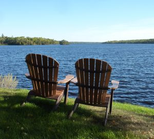 Relax at the lake at River Point Resort & Outfitting Co.