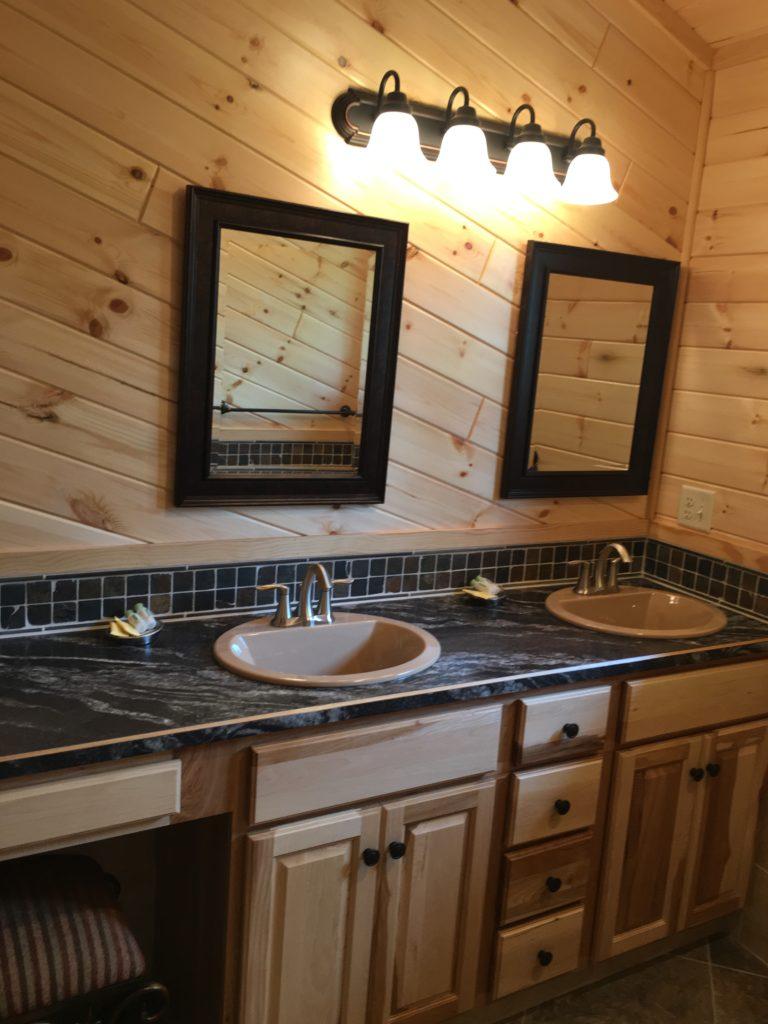 Ely Minnesota Vacation Home Rentals-Ely MN Cabins Designer Bath-River Point Resort