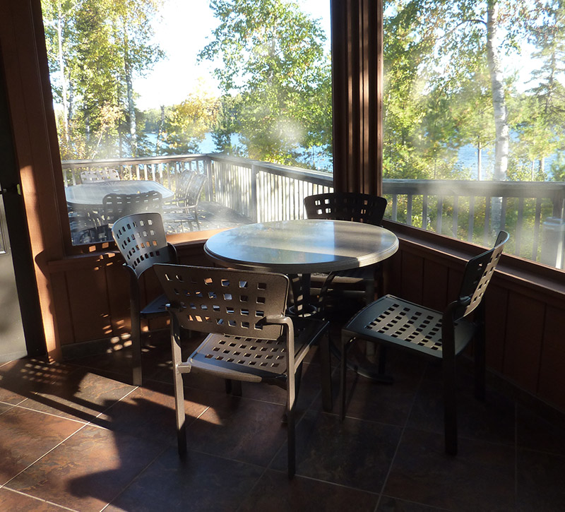 Minnesota Vacation Home Cabins-Ely MN Cabins Screen Porch-River Point