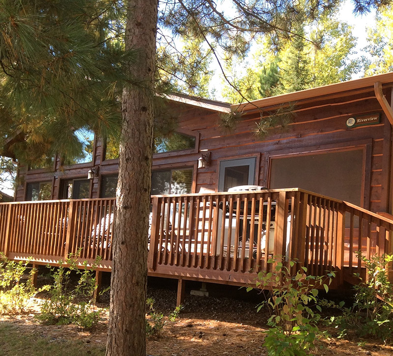 Ely Minnesota Cabin Rentals-Riverview Cabin-River Point Resort