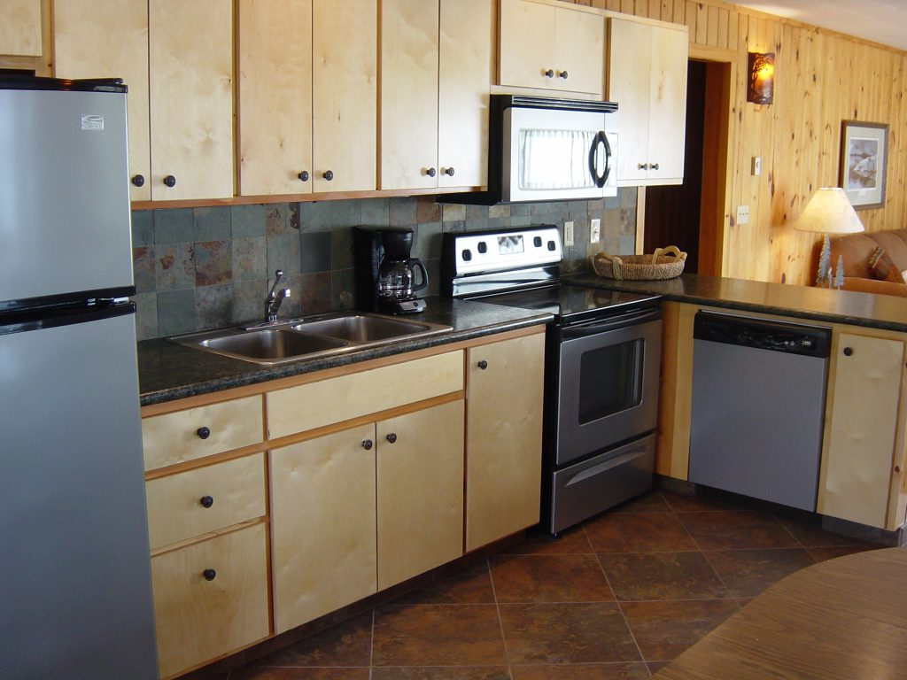 Minnesota Vacation Home Cabins-Reflections Cabin Kitchen-River Point Resort