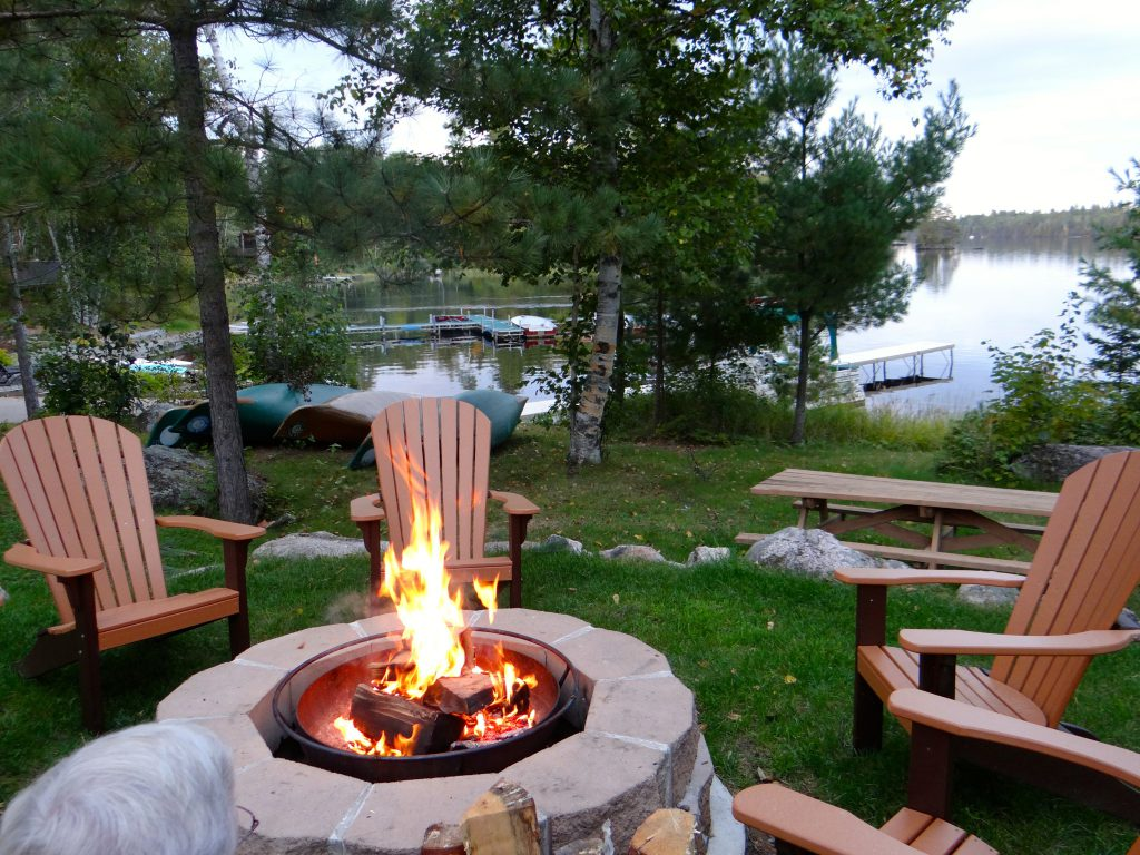 Ely Minnesota Resorts-River Point Resort-Birch Lake-Bonfire Time