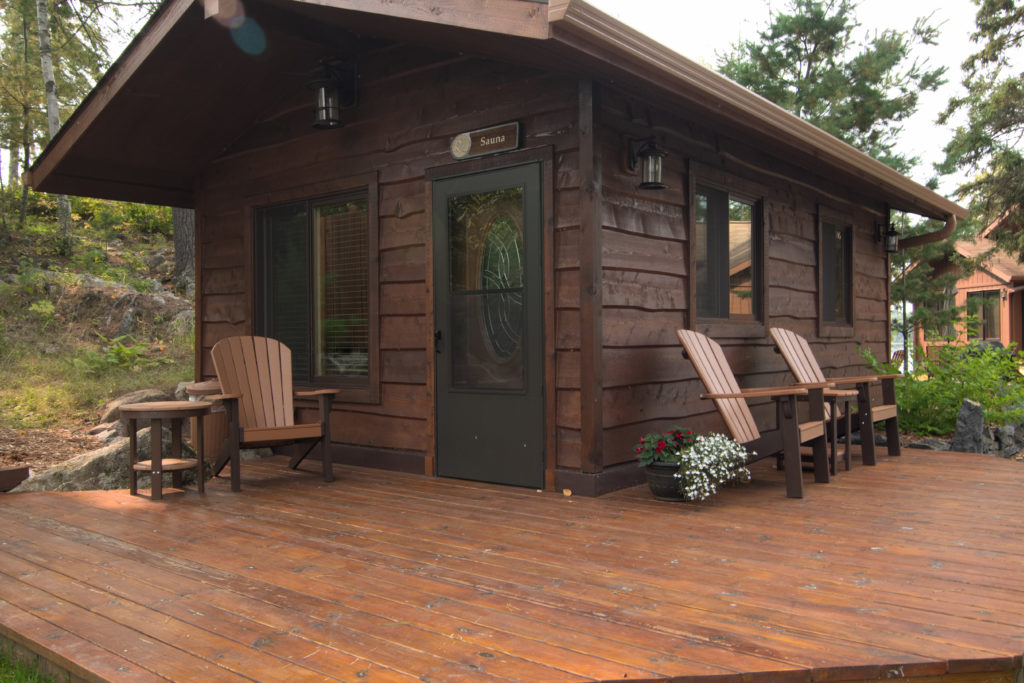 Ely Minnesota Resorts-River Point Resort-Birch Lake-Sauna