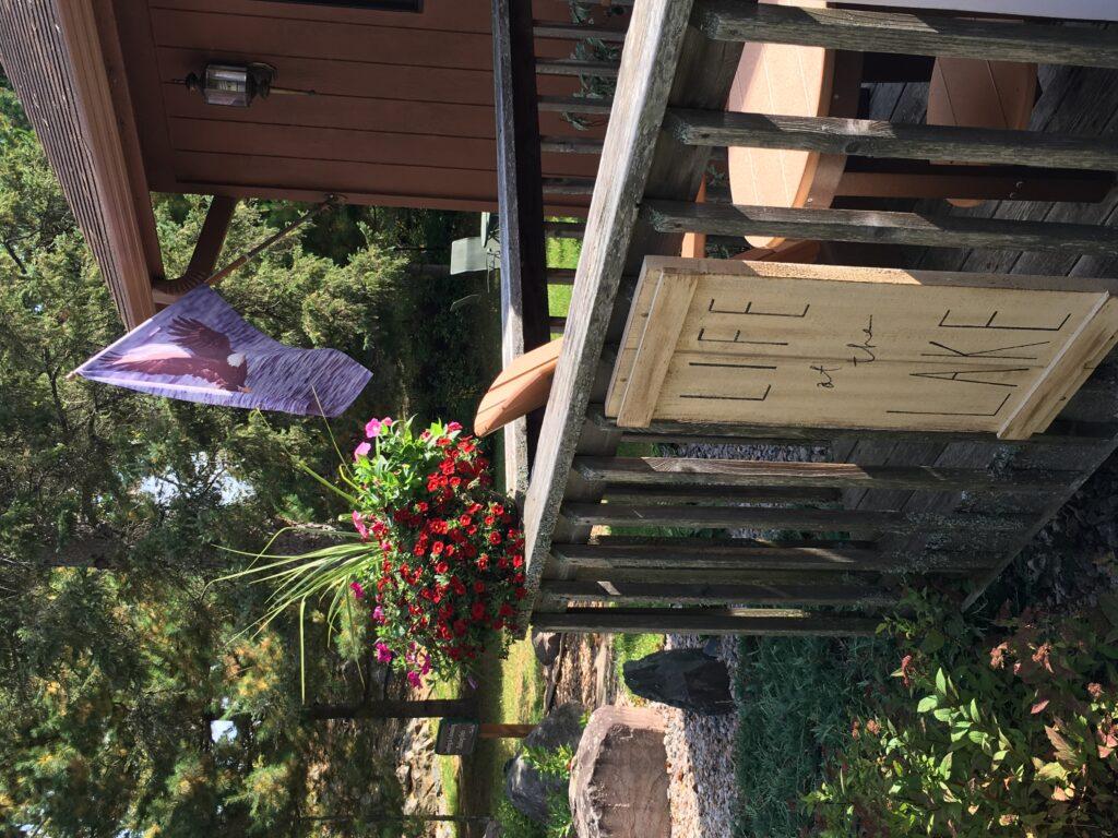 Ely Minnesota Hotels Motels-Pontoon Boat at River Point Resort-Birch Lake