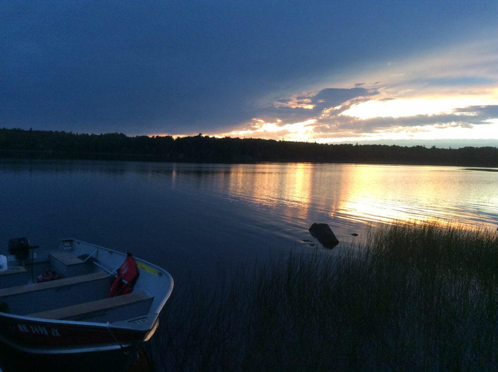 Ely Minnesota Cabins-Bayport Cabin-River Point Resort-Sunset