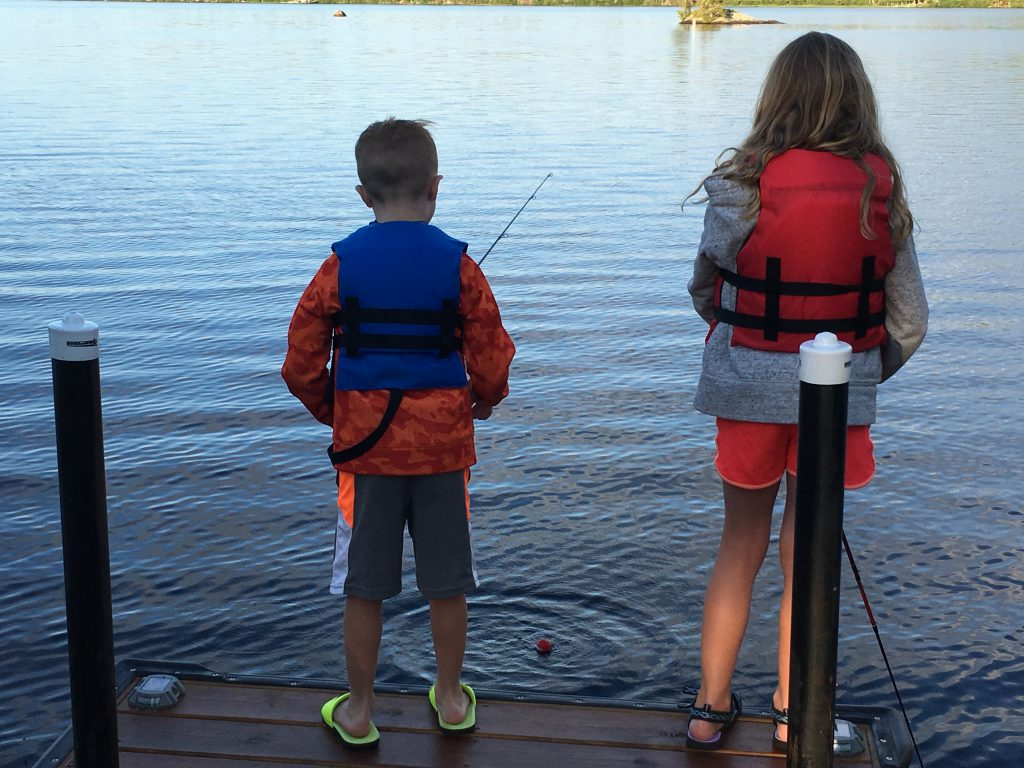 Ely Minnesota Cabins-River Point Resort-Bayport Cabin-Dock Fishing