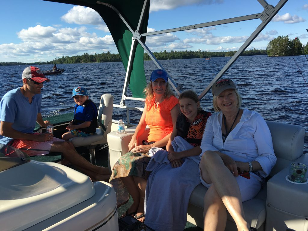 Northern Minnesota Cabins-Pontoon Boating-River Point Resort-Birch Lake-Ely