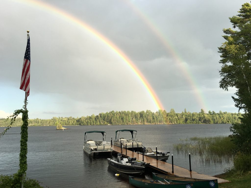 Northern Minnesota Resorts-River Point Resort-Double Rainbow Magic