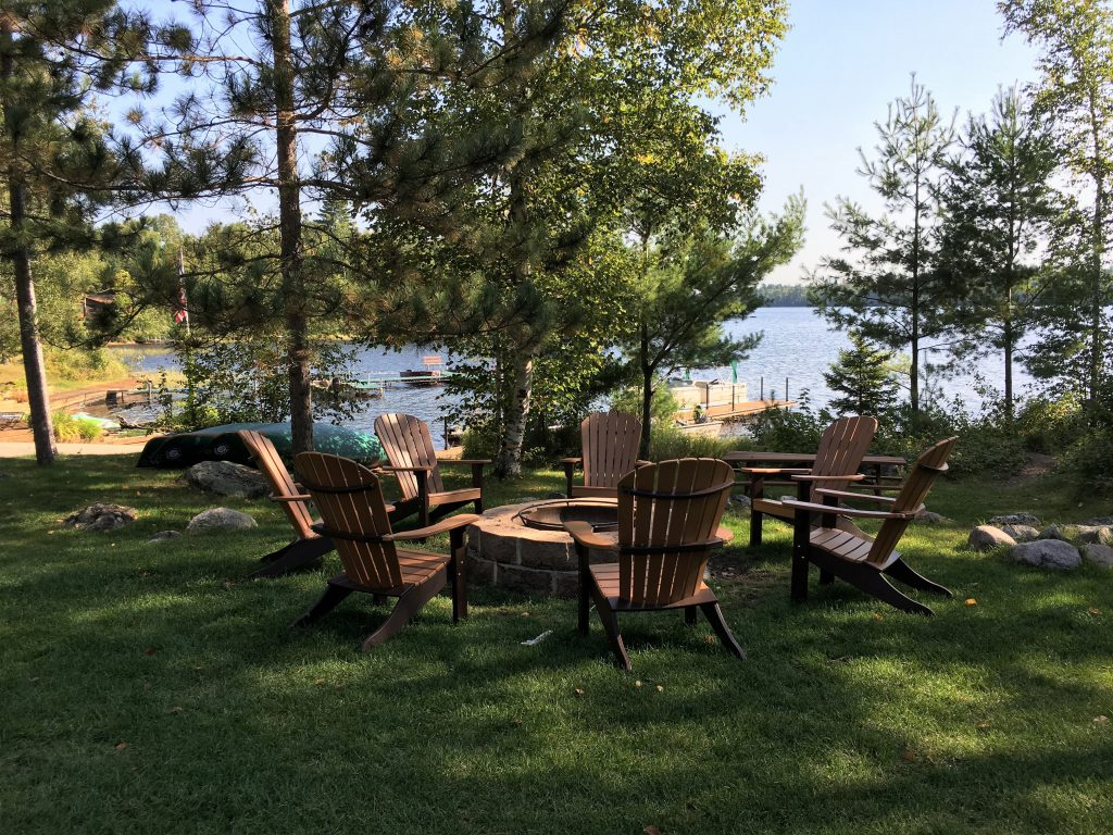 Ely Minnesota Cabins-River Point Resort-Bayport Cabin Firepit