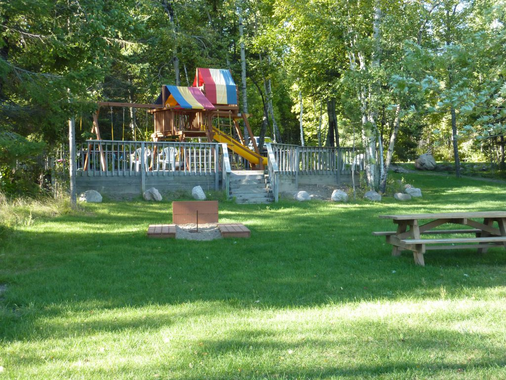 Ely Minnesota Resorts-River Point Resort-Birch Lake-Playground