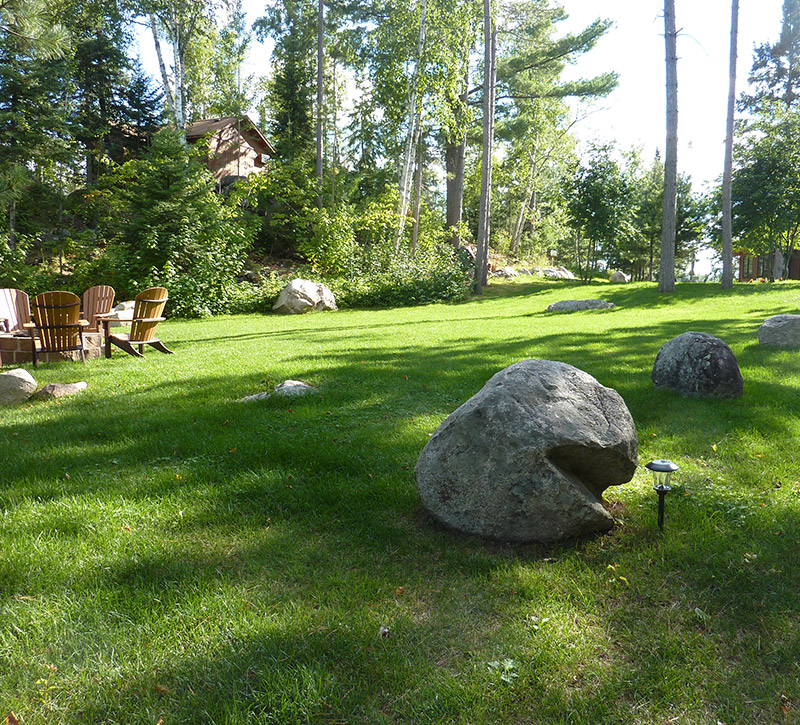 Ely Resorts Lodges-Grounds and Firepit- River Point Resort-Ely Minnesota