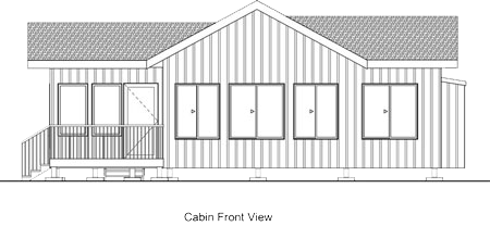 Minnesota Vacation Home Cabins-Ely MN Cabin Rentals-Cabin Front-The Point