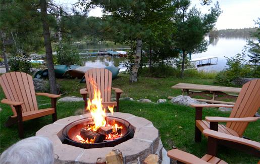Ely Resorts Lodges-River Point Resort-Bonfire Time